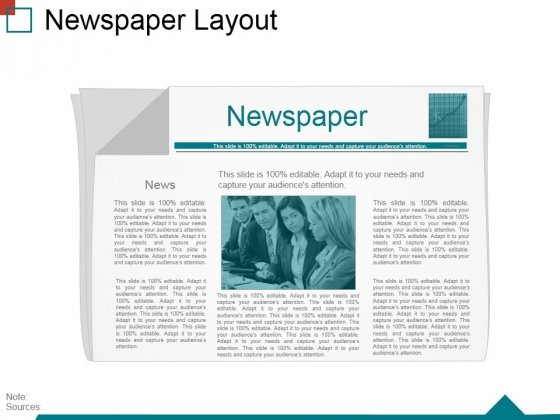 Newspaper Layout Ppt PowerPoint Presentation Diagram Ppt