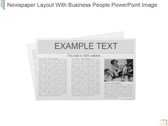 Newspaper Layout With Business People Ppt PowerPoint Presentation Inspiration