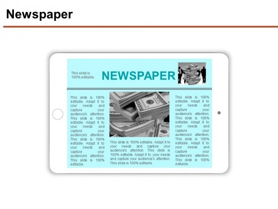 Newspaper Ppt PowerPoint Presentation File Grid