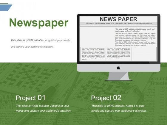 Newspaper Ppt PowerPoint Presentation File Microsoft
