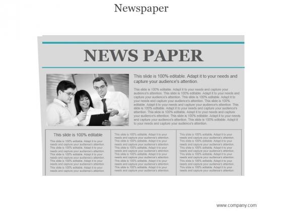 Newspaper Ppt PowerPoint Presentation Good