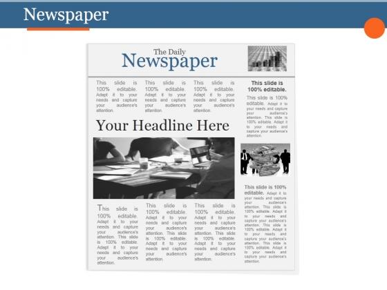 Newspaper Ppt PowerPoint Presentation Graphics