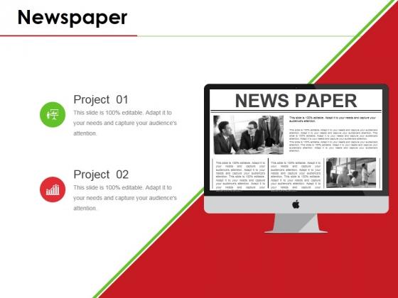 Newspaper Ppt PowerPoint Presentation Icon Background Designs