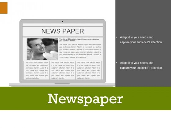Newspaper Ppt PowerPoint Presentation Icon Themes
