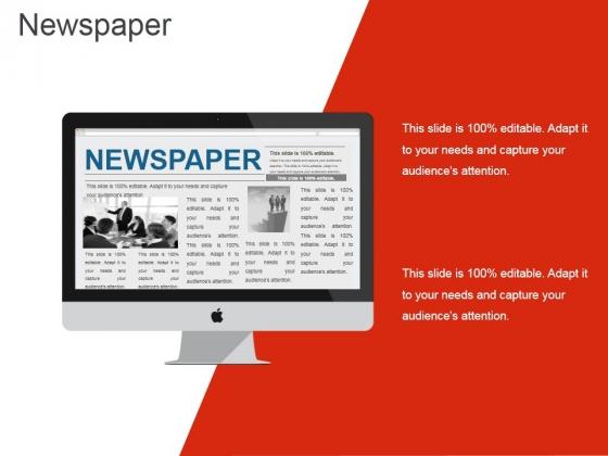 Newspaper Ppt PowerPoint Presentation Ideas Demonstration