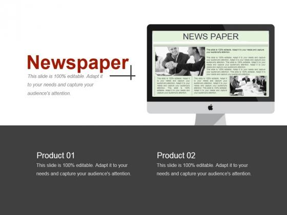 Newspaper Ppt PowerPoint Presentation Ideas Diagrams