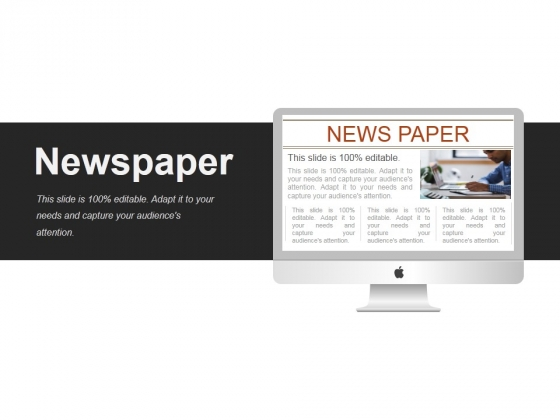 Newspaper Ppt PowerPoint Presentation Infographic Template Maker