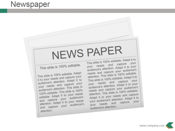 Newspaper Ppt PowerPoint Presentation Infographic Template Templates