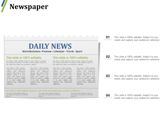 Newspaper Ppt PowerPoint Presentation Layouts Examples
