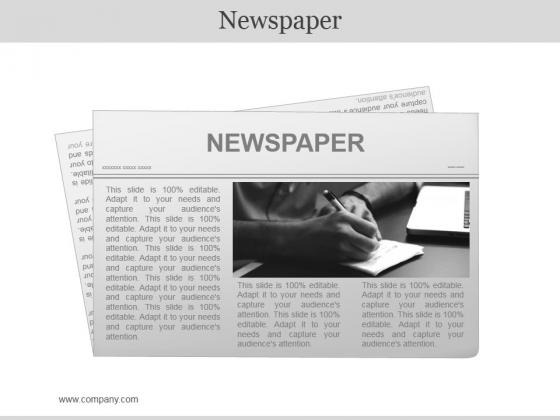 Newspaper Ppt PowerPoint Presentation Layouts Smartart
