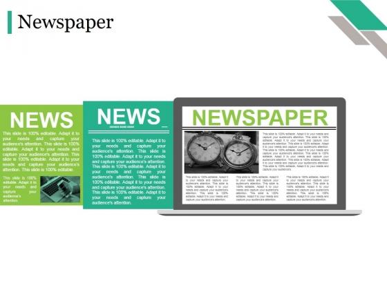 Newspaper Ppt PowerPoint Presentation Model Display