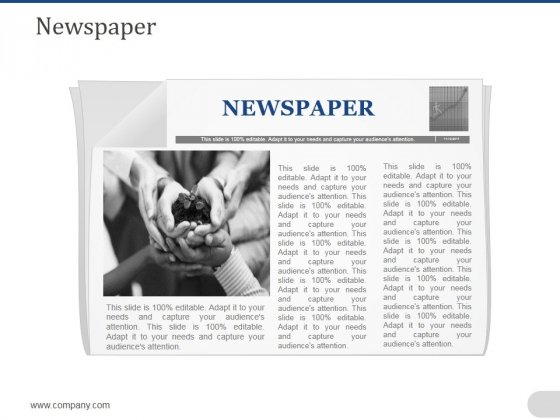 Newspaper Ppt PowerPoint Presentation Pictures Backgrounds
