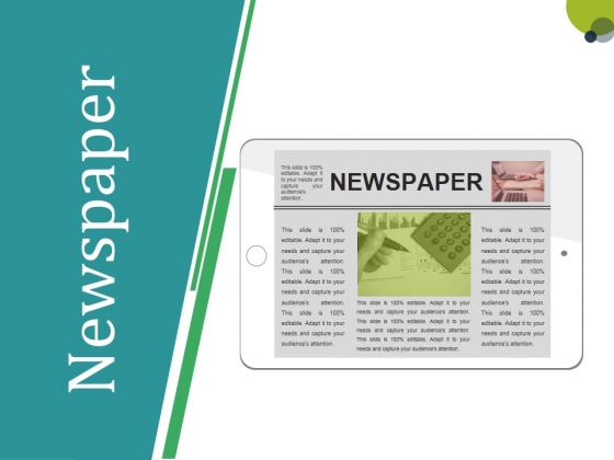 Newspaper Ppt PowerPoint Presentation Pictures Brochure