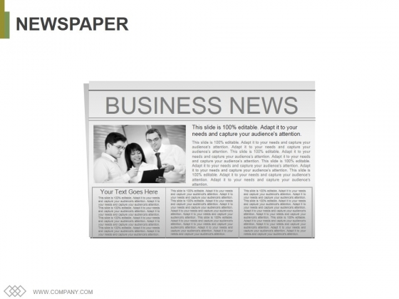 Newspaper Ppt PowerPoint Presentation Portfolio Layout