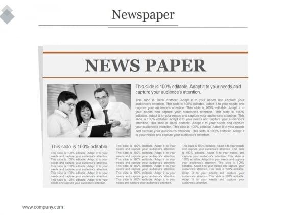 Newspaper Ppt PowerPoint Presentation Show