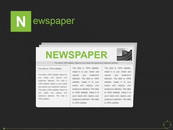 Newspaper Ppt PowerPoint Presentation Show Template
