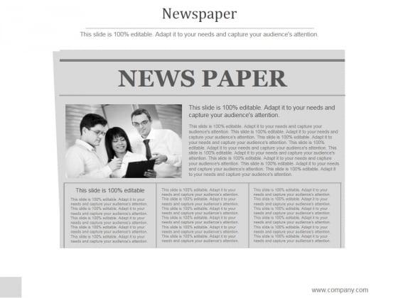 Newspaper Ppt PowerPoint Presentation Slide