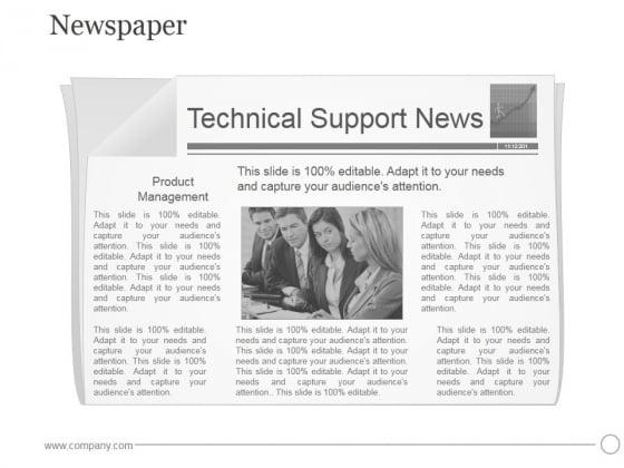 Newspaper Ppt PowerPoint Presentation Visuals