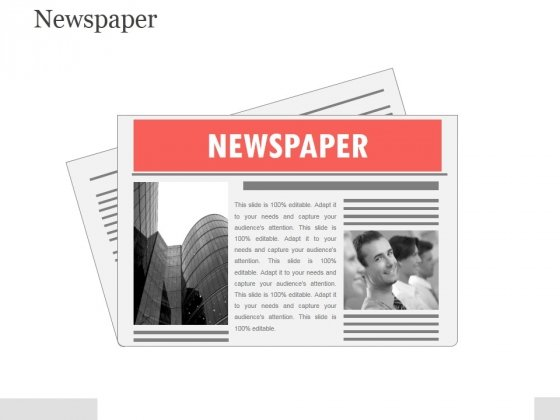 Newspaper Template 1 Ppt PowerPoint Presentation Visuals
