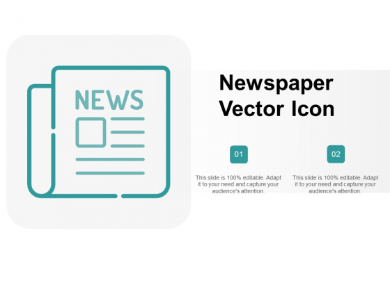 Newspaper Vector Icon Ppt PowerPoint Presentation Model Maker