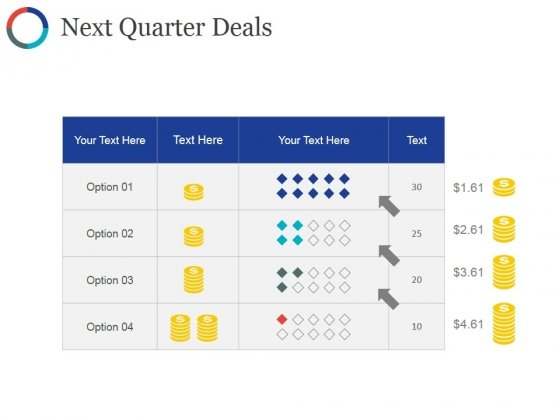 Next Quarter Deals Ppt PowerPoint Presentation Background Designs