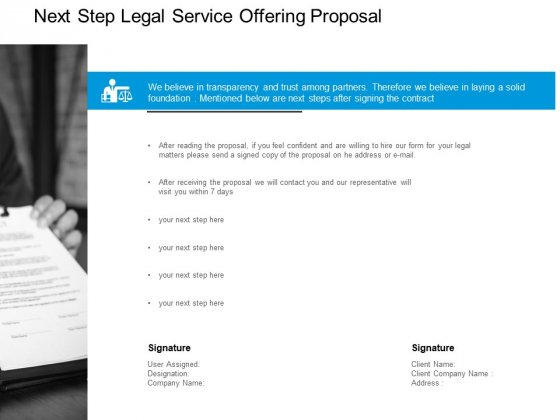 Next Step Service Offering Proposal Ppt PowerPoint Presentation Inspiration Graphic Images