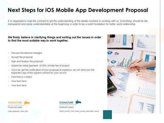 Next Steps For IOS Mobile App Development Proposal Ppt PowerPoint Presentation Portfolio Brochure