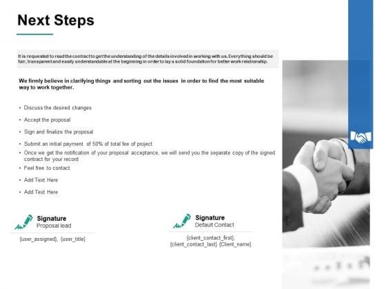 Next Steps Ppt PowerPoint Presentation Outline Slide