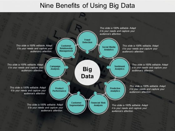 Nine Benefits Of Using Big Data Ppt PowerPoint Presentation Gallery Summary