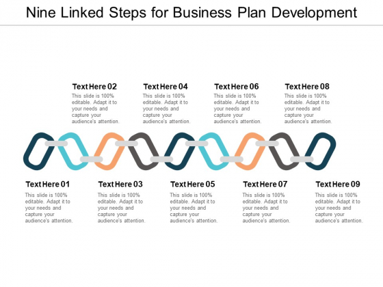 Nine Linked Steps For Business Plan Development Ppt PowerPoint Presentation Infographics Portfolio