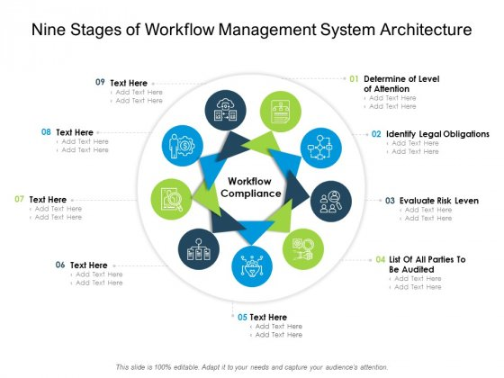 Nine Stages Of Workflow Management System Architecture Ppt PowerPoint Presentation Model Files PDF