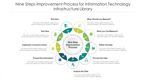 Nine Steps Improvement Process For Information Technology Infrastructure Library Ppt PowerPoint Presentation File Example PDF