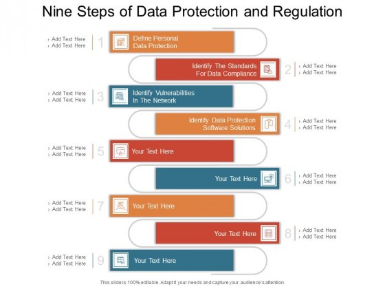 Nine Steps Of Data Protection And Regulation Ppt PowerPoint Presentation Slides Graphics PDF