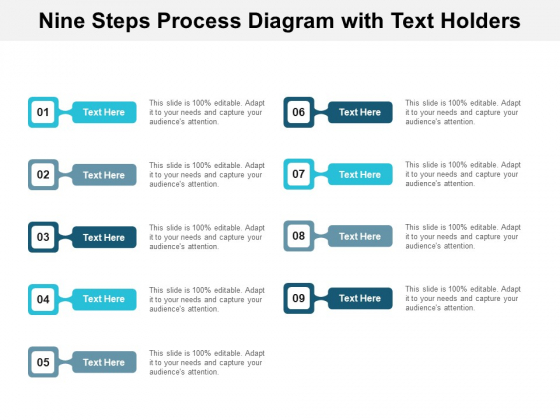 Nine Steps Process Diagram With Text Holders Ppt PowerPoint Presentation Professional Picture