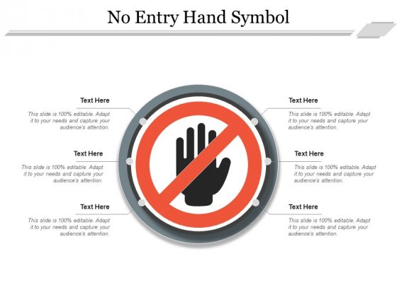 No Entry Hand Symbol Ppt PowerPoint Presentation Ideas Graphics