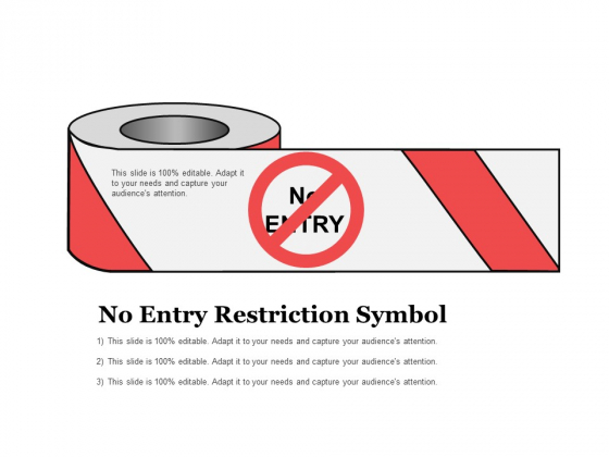 No Entry Restriction Symbol Ppt PowerPoint Presentation Infographics Icons