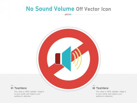 No Sound Volume Off Vector Icon Ppt PowerPoint Presentation Ideas Deck