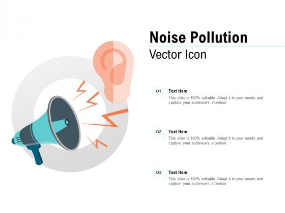 Noise Pollution Vector Icon Ppt PowerPoint Presentation Pictures Images