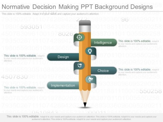 Normative Decision Making Ppt Background Designs