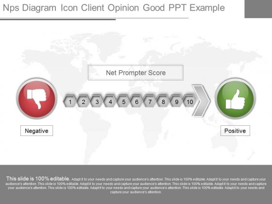 Nps Diagram Icon Client Opinion Good Ppt Example