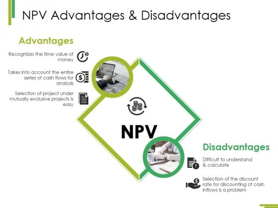 Npv Advantages And Disadvantages Ppt PowerPoint Presentation Inspiration Demonstration