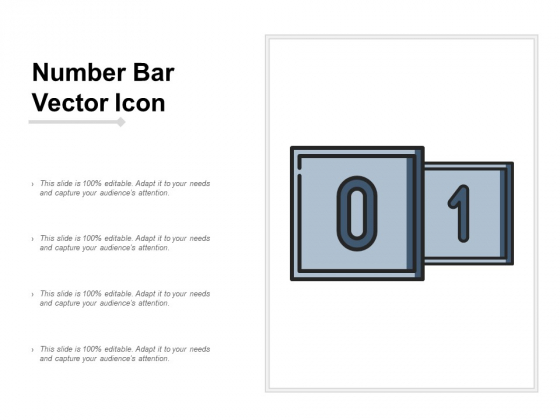 Number Bar Vector Icon Ppt Powerpoint Presentation Slides Diagrams