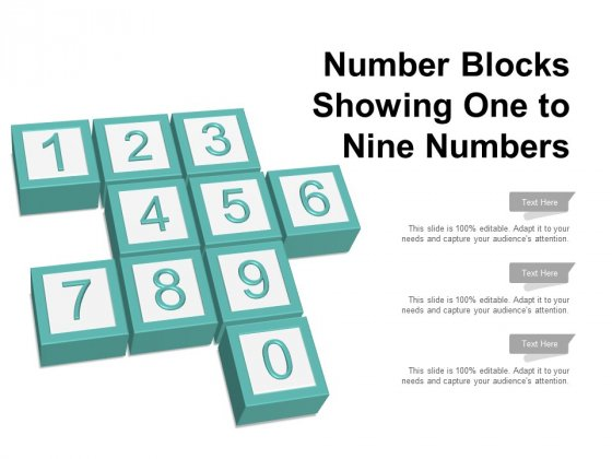 Number Blocks Showing One To Nine Numbers Ppt PowerPoint Presentation Gallery Introduction