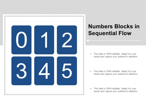 Numbers Blocks In Sequential Flow Ppt PowerPoint Presentation Outline Graphics Design