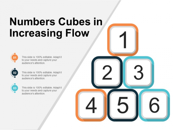 Numbers Cubes In Increasing Flow Ppt PowerPoint Presentation Visual Aids Layouts