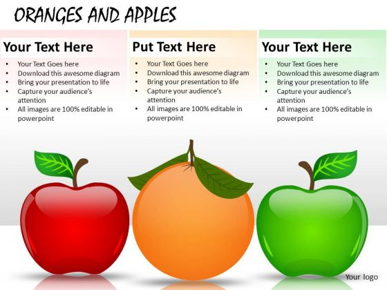Natural Oranges And Apples PowerPoint Slides And Ppt Diagram Templates