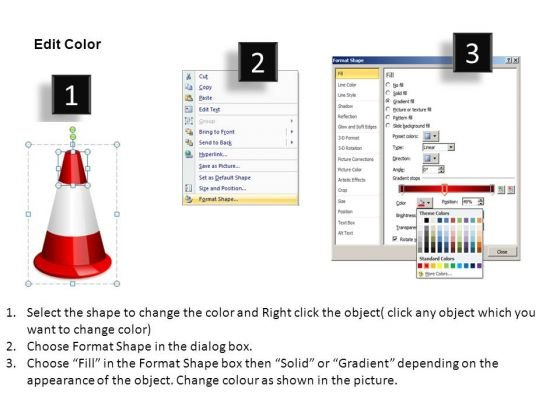 navigating_obstacles_changing_direction_traffic_cones_powerpoint_slides_3