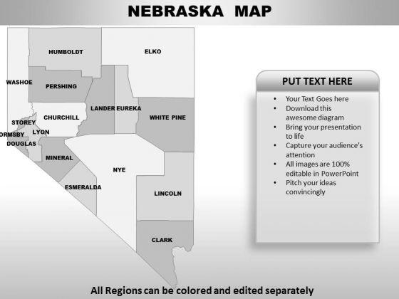 Nebraska PowerPoint Maps