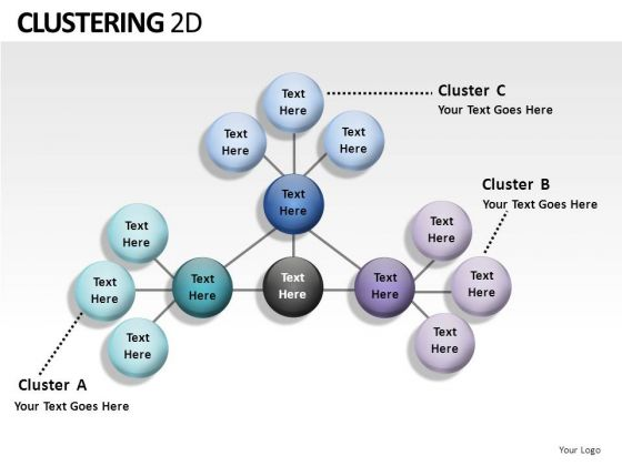 Netword Clustering 2d PowerPoint Slides And Ppt Diagram Templates