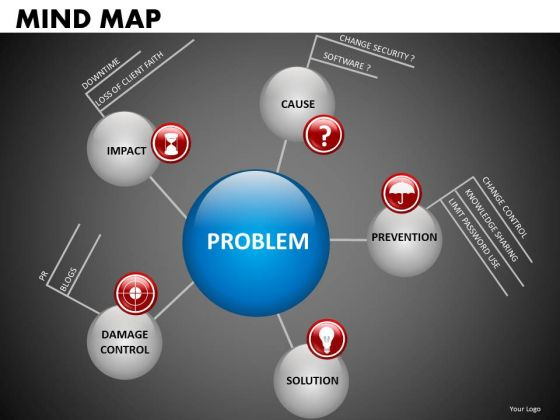 Network Diagram Mind Map PowerPoint Templates Ppt Slides